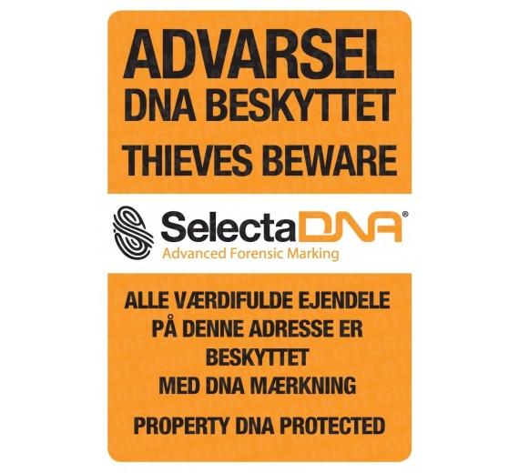 SelectaDNA Dør / Container / Postkasse Sikringsmærke 13,7 x 20,0 cm.
