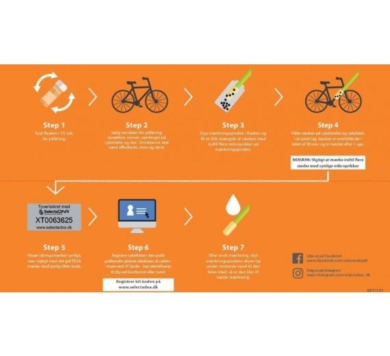 DNA-Mærkning til 2 cykler, cykeldele og andet udstyr-01