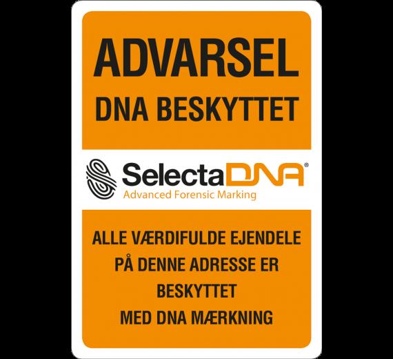 SelectaDNA Dør / Postkasse Sikringsmærke 7 x 10 cm.