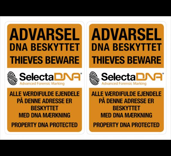 SelectaDNA Vindues Sikringsmærker (1 ark med 2 stk.)