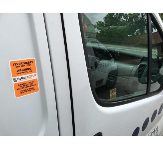 Forebyg indbrud, DNA-mærkning til 20 varebiler og 500 stk. værktøj