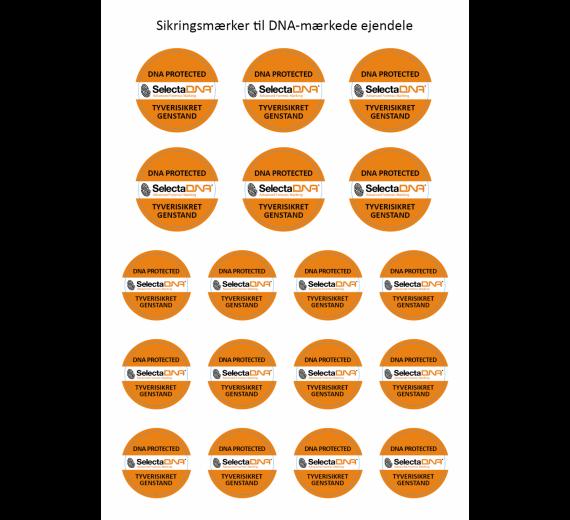 SelectaDNA Permanent Ultra Destructable Sikringsmærker - 18 stk.
