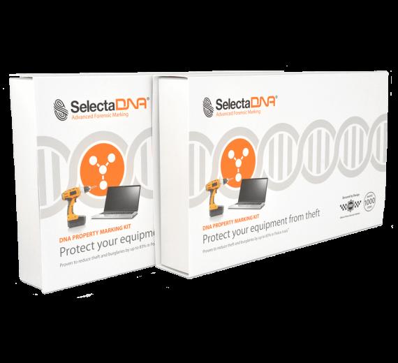 SelectaDNA Virksomhedskit 1.000 mærkninger med ekstra sikringspakke (Tryg Forsikring)