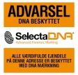 SelectaDNA Hård Plast Sikringsskilt 30 x 30 cm.