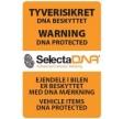 SelectaDNA Bil Sikringsmærke 7x10 cm. Til udvendig montering