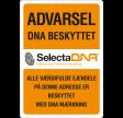 SelectaDNA Dør / Postkasse Sikringsmærke 9,5 x 14,0 cm.